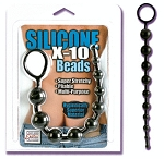 Silicone X-10 Beads Black