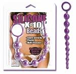 Silicone X-10 Beads Purple