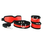 Sex & Mischief 5 Piece Red Restraint Kit
