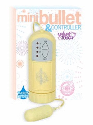 Mini Bullet Velvet Touch Waterproof - Yellow
