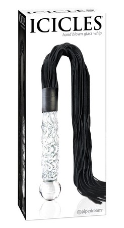 Pipedream hand-crafted Glass Flogger - Icicles No. 38