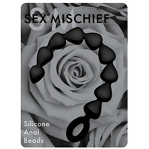 Sex & Mischief Black Silicone Anal Beads