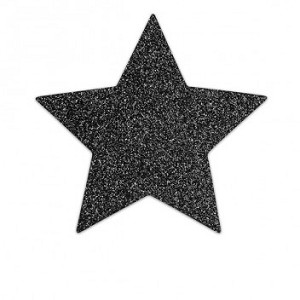 Bijoux Indiscrets Flash Star Pasties Black