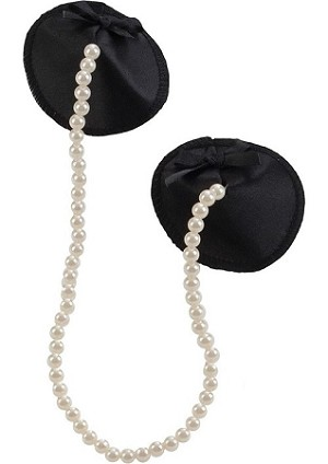 Playful in Pearls - Satin and Pearl Pasties