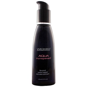 Wicked Aqua Pomegranate Flavoured Lubricant